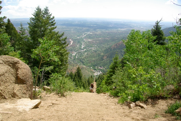 Looking down the Incline